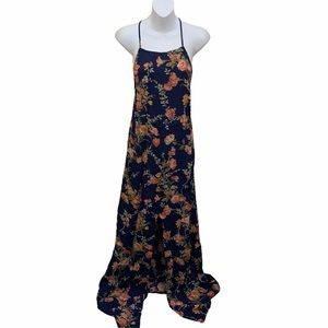 Reformation Maxi Dress Floral Pattern Sleeveless
